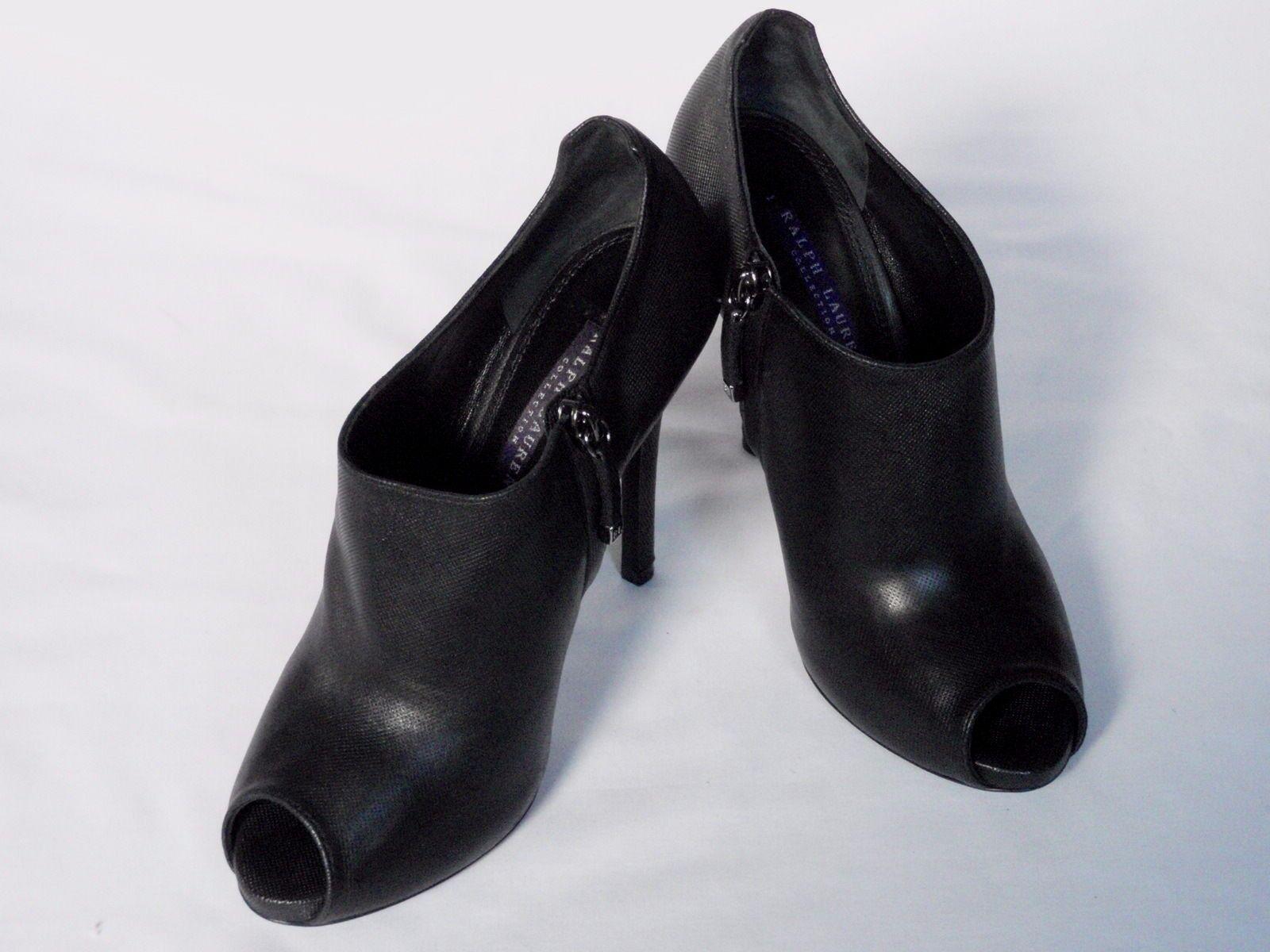 NEW Ralph Lauren femme Jassie Boot Cuir Noir Chaussure Boot Jassie Eu 39.5 Us 9.5 20039f