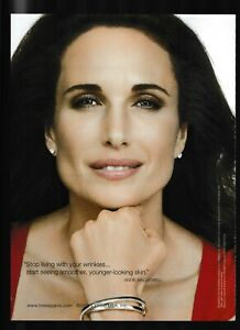 LOREAL RevitaLift  ANDIE MACDOWELL Close-Up Ageless 2011 Magazine Ad/Photo Page