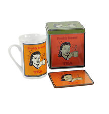 Retro TEA Set Mug & Coaster 50s Tee Set Blechdose - 3-teilig Rockabilly SAB-LP91