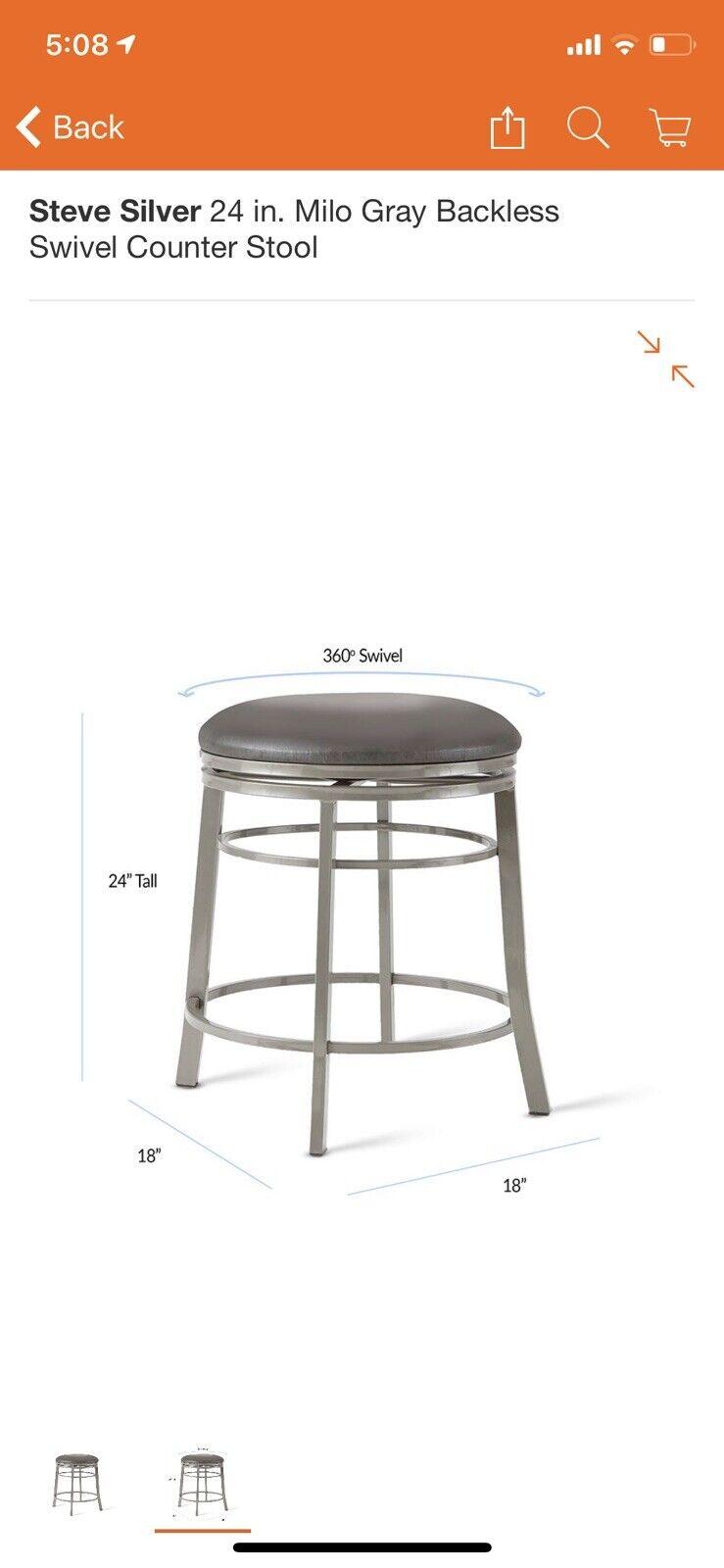 Fantastic Steve Silver Co Milo 24 In Backless Swivel Bar Stool Forskolin Free Trial Chair Design Images Forskolin Free Trialorg