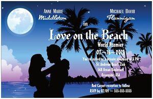 30-50-80-100-LOVE-on-the-Beach-Hollywood-MOVIE-6x9-WEDDING-Invitation-Custom