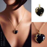 Pendentif Coeur Plaqué Or Et Onyx Neuf - Bigbang-bijoux Bijouterie Sur Internet
