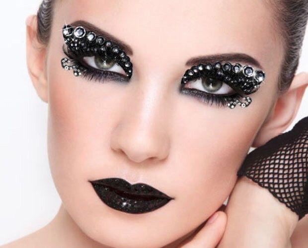 Reusable Self Adhesive Xotic Eye Makeup Art Crystal Gems Costume Burlesque Kits