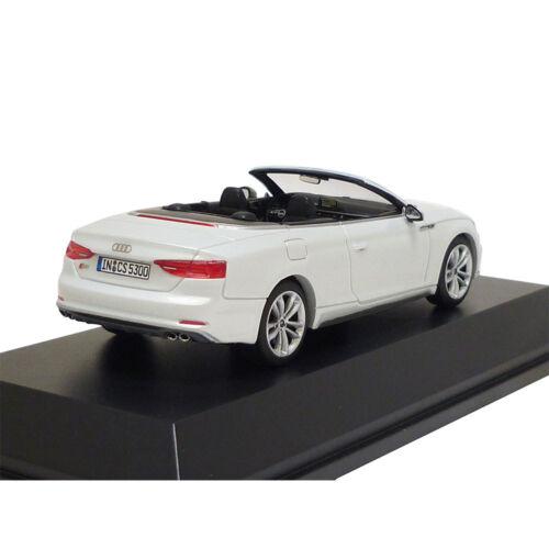 Audi S5 Cabriolet 1:43 Tofanaweiß 5011615331 Jadi limitiert 999 Modellauto