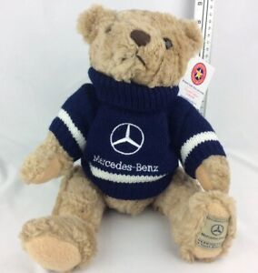 Brand-New-With-Tags-Herrington-Mercedes-Benz-Plush-Collectible-Teddy-Bear
