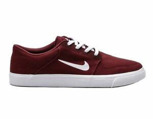 ffa69d75b7a64 NIKE SB PORTMORE CANVAS LOW SKATEBOARD MEN SHOES RED 723874-611 SIZE ...