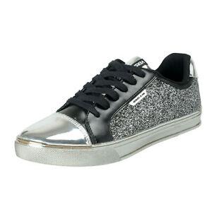 Women's Sparkle Sneakers Versace Fashion Jeans Shoes 11 Us It Silver 0vmnN8w