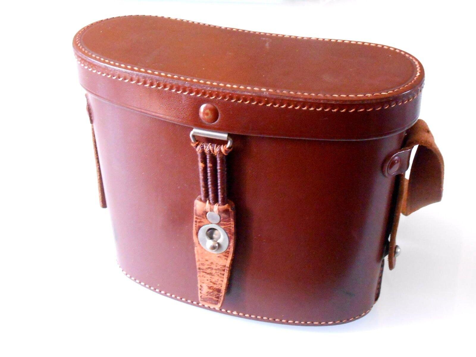 Carl Zeiss Jena prismáticos bolso para 8x30, marrón top