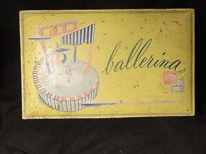 Ballerina-Bonbonniere-Vintage-Candy-Tin-1949-Yellow
