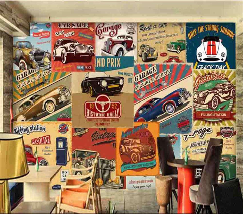 Many Antique car 3D Full Wall Mural Photo Wallpaper Printing Home Kids Decor