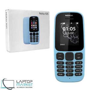 Brand-New-Boxed-Nokia-105-Blue-GSM-Dual-SIM-Cellular-Phone-Flashlight