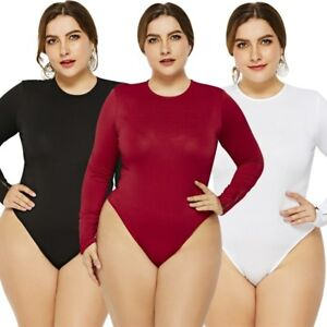 5349b621563 6XL Casual Jumpsuits Women Long Sleeve Plus Size Sexy Bodysuit ...