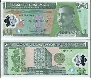 Guatemala 1 Quetzal. Polymère NEUF 02.05.2012 Billet de banque Cat# P.115b