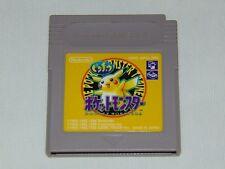 Game Boy JAP: Pokemon Yellow (cartucho/cartridge)