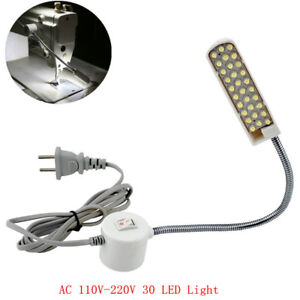 Industrielle-Naehmaschine-30-LED-220V-Magnetische-Flexible-Montage-Licht-Lampe