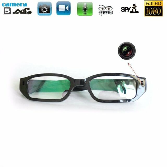 56c6fce1f076 Full HD 1080P Spy Glasses Hidden Camera Security DVR Video Recorder Eyewear  NEW