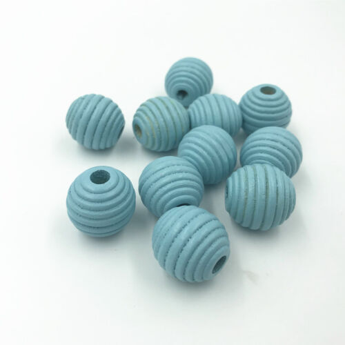 Wooden Bead Round Stripe Bead for Baby Crafts/&Pacifier Clip Necklace DIY 19mm