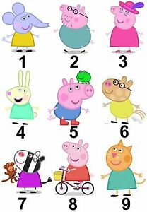 peppa pig characters large sticky white paper stickers labels new ebay