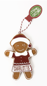 Gingerbread Christmas Tree Hanging Decorations Charlotte