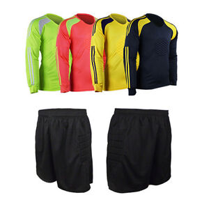 18734f96788 Image is loading Mens-Foam-Padded-Jersey-Uniforms-Football-Goalkeeper-Soccer -