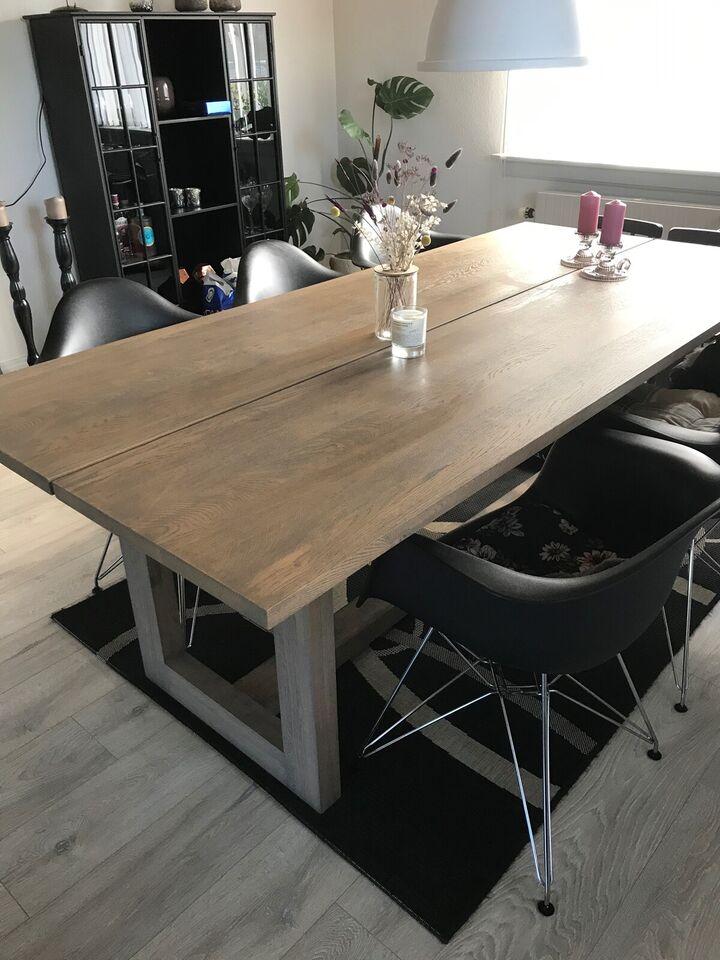 Spisebord, Røget eg, b: 100 l: 220