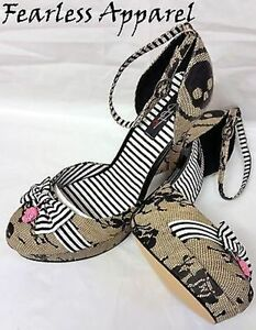 Iron-Fist-Lacey-Days-Skull-Sailor-Nude-Platform-Heels-Shoes-Womens-Size-10-amp-11