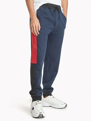 Tommy Hilfiger Sport Men/'s Navy Blazer Colorblocked Soft Fleece Lined Sweatpants