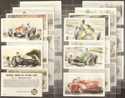 RACING CARS CASTROL OIL-FULL SET X24 CARDS EXC