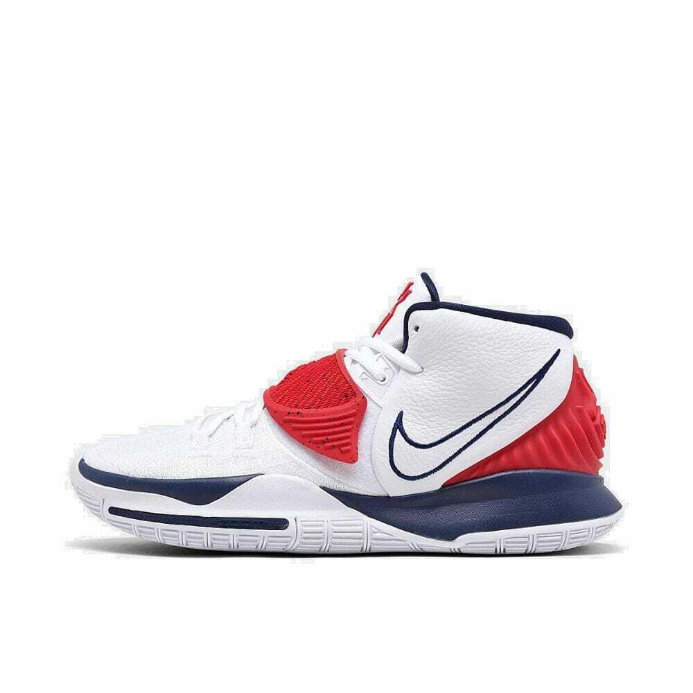 Nike Kyrie 6 Men's Basketball Shoes Bq4630 102 White Red Blue USA