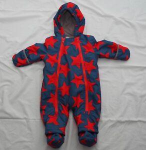 d9c570829 Baby Boden pramsuit snowsuit age 3-6 months blue red stars boys Mini ...