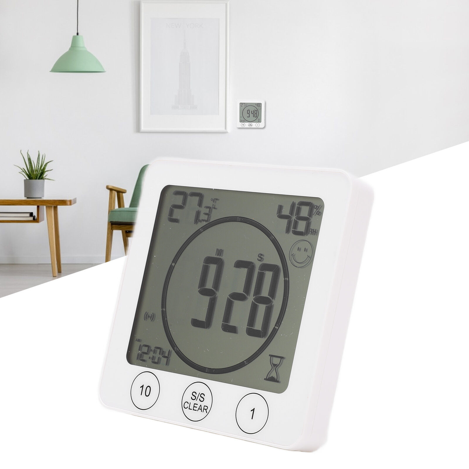 Temperature Monitor Humidity Meter Thermometer Hygrometer Tester for Home Office