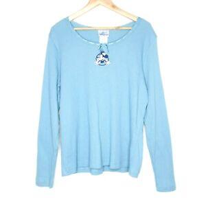 Disneyland-Resort-Minnie-Mouse-Womens-Night-Shirt-Size-XL-Turquoise-Sleepwear
