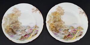 Shelley-Fine-Bone-China-England-Bread-Plates-7-034-Heather-Set-of-Two-2