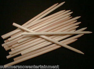 Candy-Apple-Sticks-Semi-Pointed-Dowels-5-5-034-X1-4-034-Concession-100-Pack
