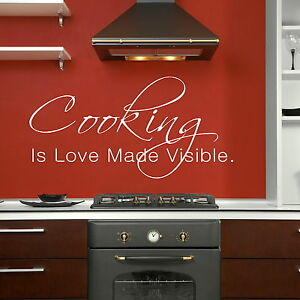 Cooking Kitchen Quote Wall Art Sticker  Decal Transfer  Graphic Stencil X93 - <span itemprop=availableAtOrFrom>Tamworth, Staffordshire, United Kingdom</span> - Item Must Be in original condition in order to obtain a refund, replacements will be given without need of a return where an error by us has occured, picture evidence will - Tamworth, Staffordshire, United Kingdom