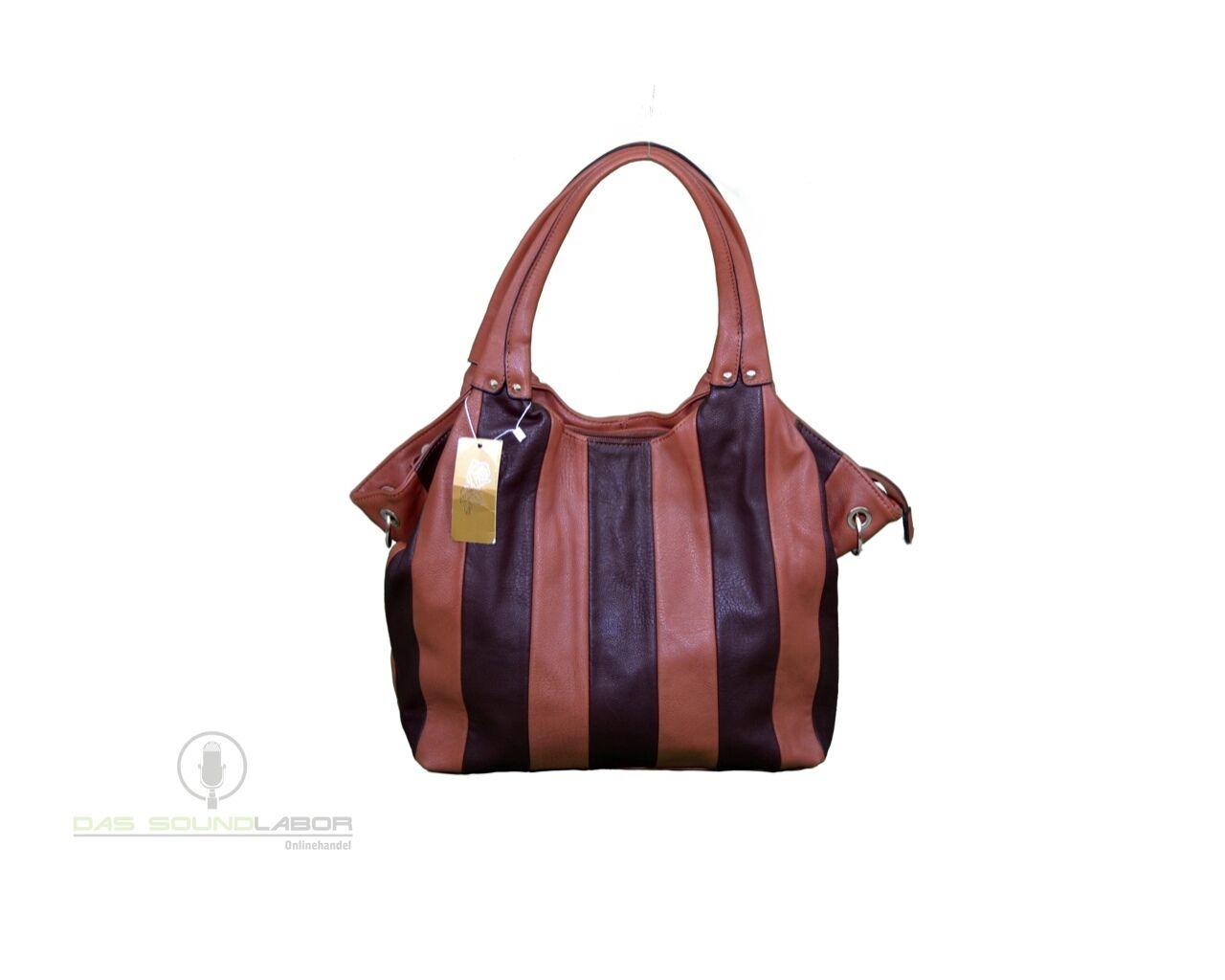 b44c2725d75c5 Damen FASHION FASHION FASHION Designer Ledertasche Handtasche Tasche  Tragetasche braun NEU 4652f6