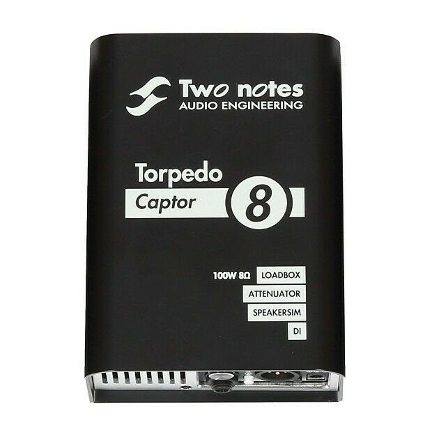 Two Notes Audio Engineering Torpedo CAPTOR8 Reactive Loadbox DI Attenuator 8-ohm
