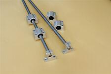 Shaft Rod 10mm 600mm Amp Linear Rail Support Ball Bearing Block Set Optical Axis