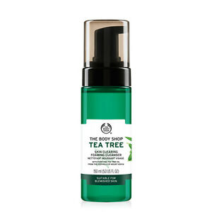 New-Vegan-Vegetarian-The-Body-Shop-Foaming-Facial-Cleanser-Tea-Tree-Extract