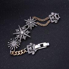Bracelet Argenté Doré Fin Etoile Art Deco Class Vintage Mariage CT9