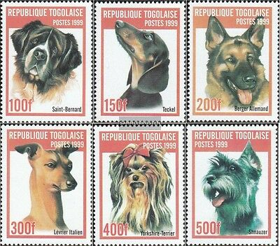 Togo 2823-2828 Unmounted Mint Animal Kingdom Stamps Never Hinged 1999 Breeds