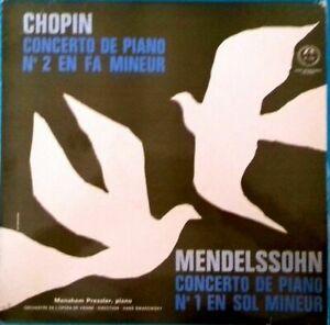 Scheibe-Classic-Vinyl-33-Time-Chopin-Concerto-fuer-Klavier-Nr-2-IN-Fa-Bergmann
