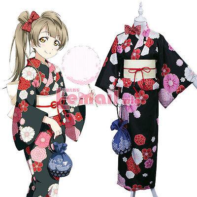 Love Live Kotori Minami Kimono Yukata Dress Cosplay Costume Outfit LoveLive