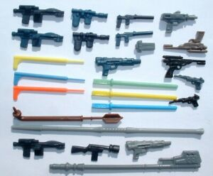 Stormtrooper Jedi ESB 1977 Vintage Star Wars 12 CUSTOM Weapon LOT Han,Leia,Jawa