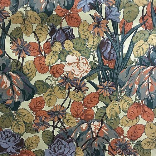 Émaillé Floral Coton Rideau Tissu £ 7.99 Par Mètre