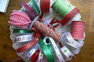 Christmas-Mixture-18-Varieties-2-3-amp-5-Metre-Lengths-4-to-25mm-Wide-MultiList