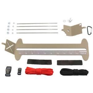 Paracord Jig Bracelet Maker Paracord And Monkey Fist Jig Tool Kit Adjustabl D7R2