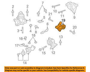 mazda oem 07 12 cx 7 engine motor transmission rear mount mount bolt rh ebay com 2009 CX-7 Turbo Problems 2009 mazda cx 7 engine diagram