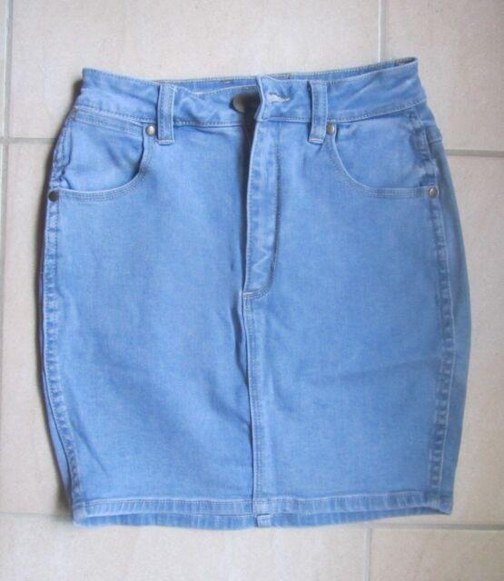 Wrangler Hi Mini Light Blue Denim Skirt Size 8