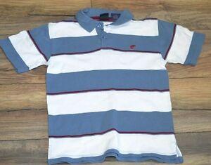 1ac459ea Boys Short Sleeve Wrangler Jeans Co Blue & White Stripe Polo Shirt ...